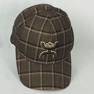 🤠 Hooey brown plaid hat cap S-M